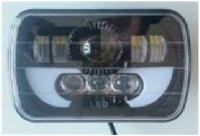 Фары черные диодные LED с линзами для Toyota Prado (89-96)