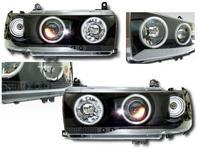 Фары (черные) ангел глазки для TOYOTA LAND CRUISER FJ80 (94-97)