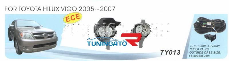 Фары в бампер (Туманки) TOYOTA HILUX VIGO PICK UP - 2005-08г.