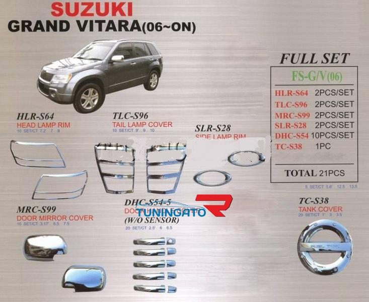 Хромированные накладки кузова FS-G/V(06) для ESCUDO / GRAND VITARA 2005-
