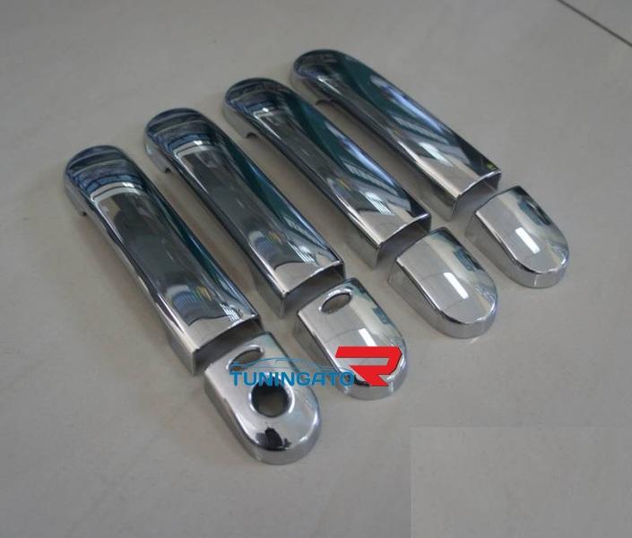 Хромированные накладки на дверные ручки Nissan Serena 2006-