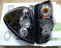 Диодные стоп сигналы черные для MMC L200 Triton 2005