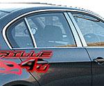 BMW X3 Накладки на стойки стальные