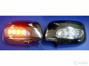 Хромированные накладки на зеркала с поворотниками для  LEXUS RX330