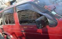 Ветровики дверные (Широкие за зеркало 22см.) NISSAN Datsun (89-95)