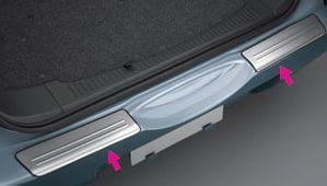 Металическая накладка на задний бампер для Toyota RUSH \ Cami \ Be-go