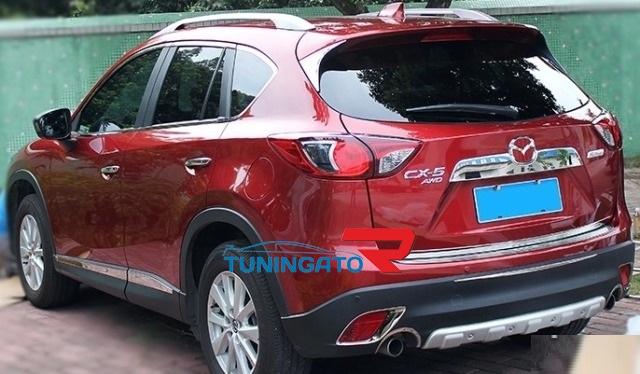 Хром накладки на фонари для Mazda CX-5 (2012-)