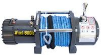 Лебедка электрическая 12V Electric Winch 6000lbs / 2722 кг (3 контакта) с кевларовым тросом 8mm серая 3000