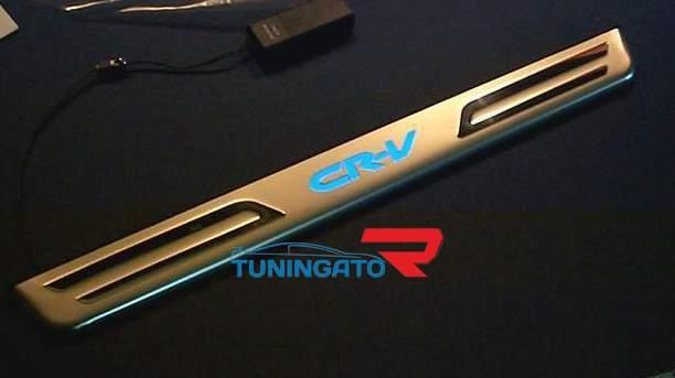 Хромированные накладки с подсветкой CR-V, металические, Тайвань для HONDA CR-V 00-07