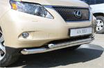 Защита переднего бампера d 76/60 двойная LexusRX 350 2009
