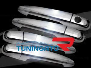 Хромированные накладки на дверные ручки для 4RUNNER