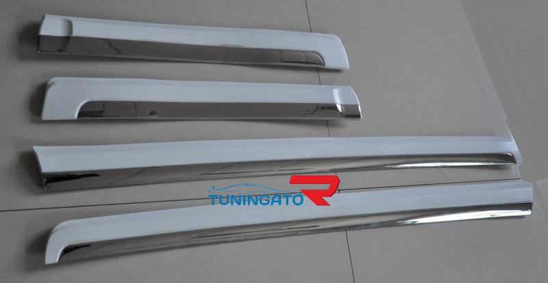 Молдинги дверные в цвет с хромом 607LX-150-10 LAND CRUISER PRADO 150