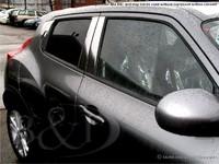 Хромированные накладки на дверные стойки 10шт. США для Nissan JUKE