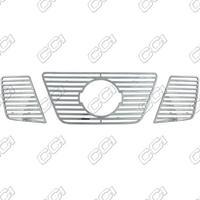 Металлические накладки в решетку радиатора для Nissan Pathfinder 05-