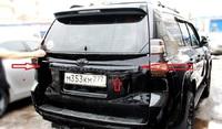 Черная планка над задним номером для LC Prado 150 2014г+