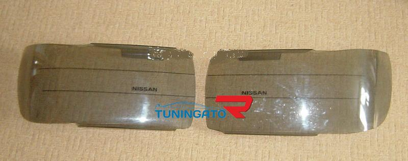 Очки на фары (серые) на NISSAN TERRANO REGULUS\ Infinity QX4 (95-99)