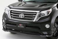 Накладка обвес на передний бампер Elford для LC Prado 150 new
