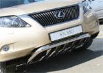Lexus RX 350 2009 Защита переднего бампера d60 c элементами из профильной трубы
