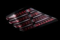 Тюнинговые диодные стоп-сигналы красный\хром для Toyota ALPHARD (2008-)