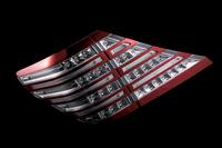 Тюнинговые диодные стоп-сигналы белый\хром\красный для Toyota ALPHARD (2008-)