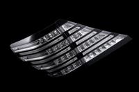 Тюнинговые диодные стоп-сигналы хром\черный на Toyota ALPHARD (2008-)
