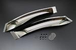 Ветровики дверные широкие под зеркало с крепежами 08611-58020 TOYOTA ALPHARD Модель: ANH10W / ANH15W / MNH10W / MNH15W