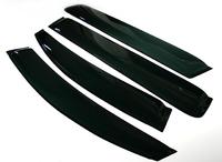 Ветровики дверные черные на липкой ленте. Подходящая модель TOYOTA ALPHARD ANH10, ANH15