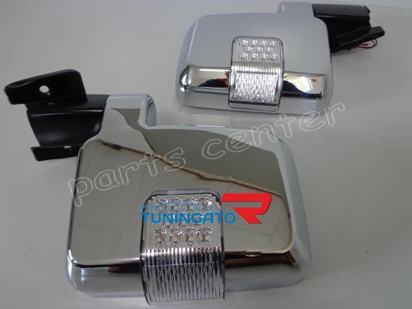 Хромированные зеркала заднего вида с поворотниками LAND CRUISER PRADO 89-96г.
