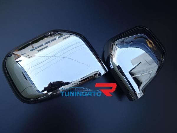 Хром накладки на зеркала для MMC PAJERO MINI 1998г.~