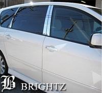 Хром накладки на дверные стойки для Toyota Ipsum 01-09г.
