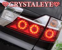 Диодные стоп сигналы CRYSTALEYE очень яркий свет, подходят на ALPHARD 2005-08г.