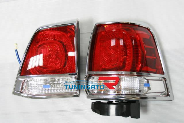 Хром накладки на стоп сигналы TLC-T120AB LAND CRUISER 200 (07-)