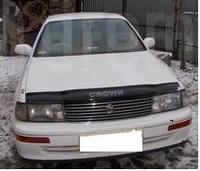 Дефлектор капота, пластиковый, черный, для Toyota Crown 92-96г.