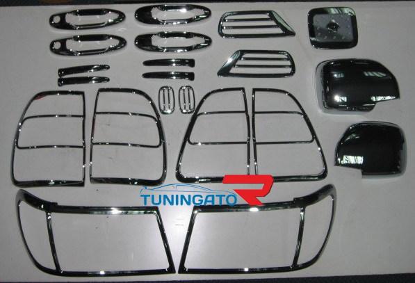 Хромированные накладки кузова HD992 00710#25 LAND CRUISER 100 (2004-2006)