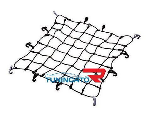 Сетка для стяжки багажа крупного Cargo Net M (900X900мм, черная)