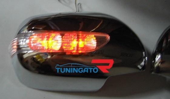 Хромированные накладки на зеркала с повторителем поворота 712B HILUX SURF 215 / 4RUNNER
