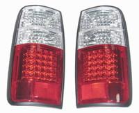 Стоп-сигналы хрустальные (Красно-белые светодиодные)LAND CRUISER