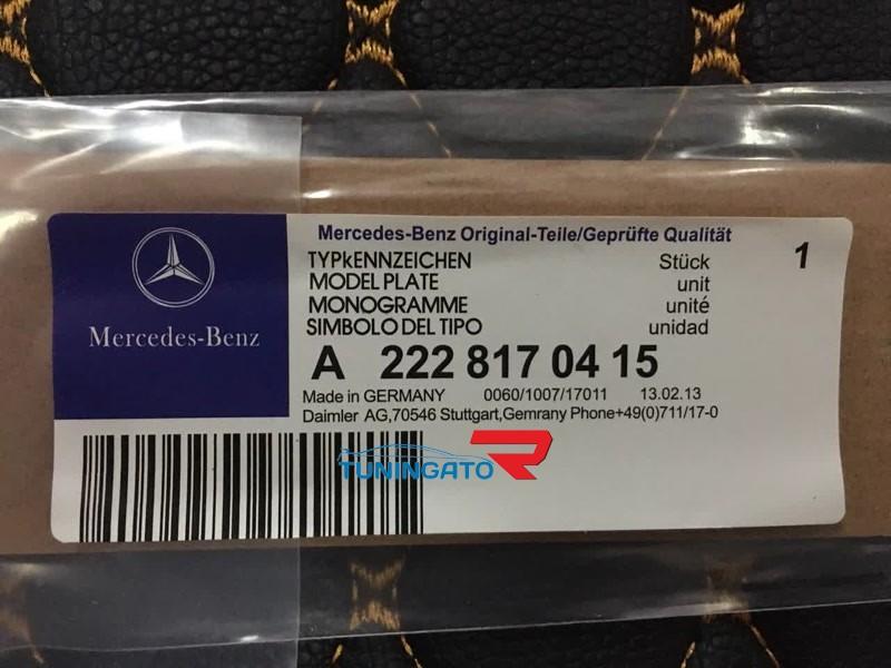 Эмблема с AMG для Mercedes