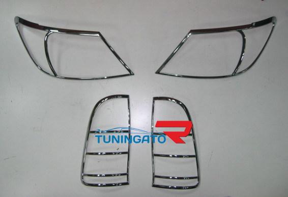 Хромированные накладки на фары и стоп-сигналы HILUX VIGO PICK UP 2005г