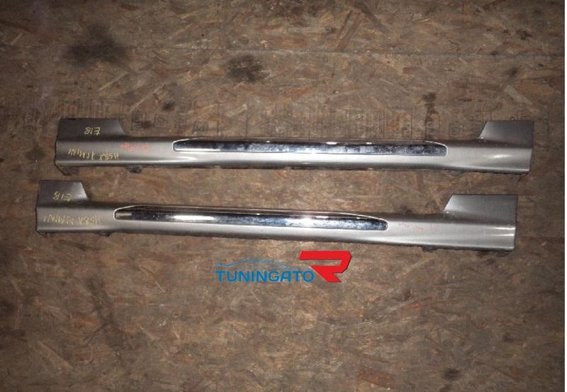 Пороги боковые на MMC Pajero Mini