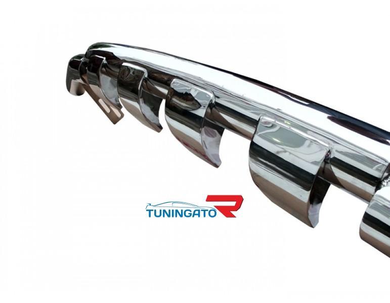 Защита переднего бампера (дуга) TOYOTA LAND CRUISER PRADO 120 (2003-2009) с зубами