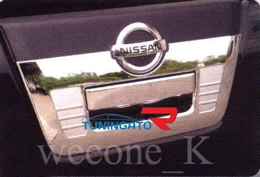 Хромированная накладка на ручку заднего борта, США, для Nissan Navara 2005-