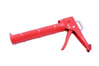 Пистолет для герметика полукорпусной с зубчатым штоком (оранжевый)
