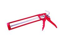 Пистолет для герметика полукорпусной с гладким штоком (красный)