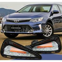 Ходовые огни в бампер для Toyota Camry 2014-
