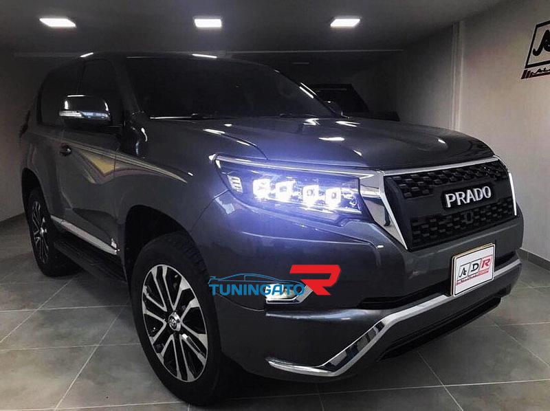 Фары линзовые для Toyota Prado 2017+