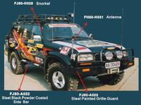 Бампер передний металлический FJ80-A043 LAND CRUISER 80 (90-97)