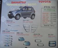 Хромированные накладки кузова FS-TERIOS06 TOYOTA CAMI / RUSH