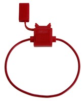 Держатель флажкового предохранителя прямоугольный влагостойкий красный (16 AWG) FU-AI818-16AWG
