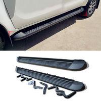 Подножки штатные черные для Toyota Hilux 2015+